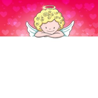 Jolie carte de saint valentin avec croquis cupidon