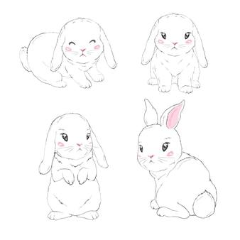 Jolie fille lapin avec couronne