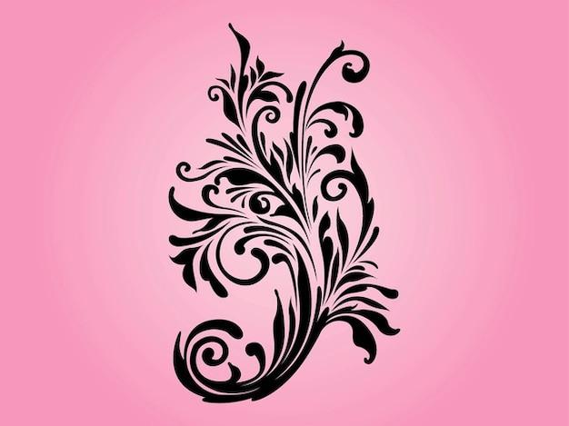 Jolie fleur avec des remous
