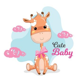 Jolie girafe bébé