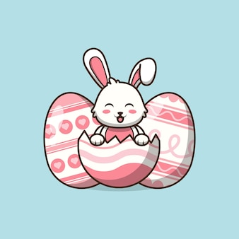 Jolie illustration de lapin de pâques