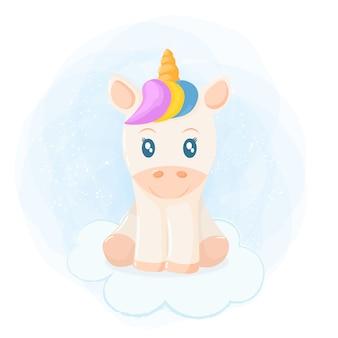 Jolie illustration de licorne