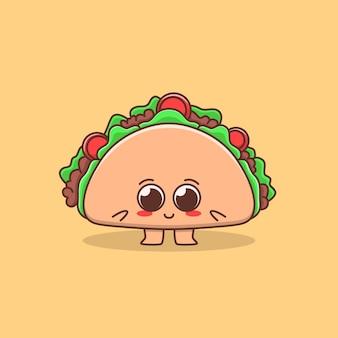 Jolie illustration de tacos au design plat
