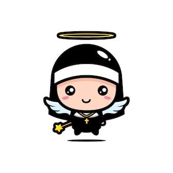 Jolie nonne est un ange