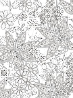 Jolie page à colorier floral tropical en ligne exquise