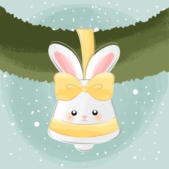 Jolie petite cloche de lapin