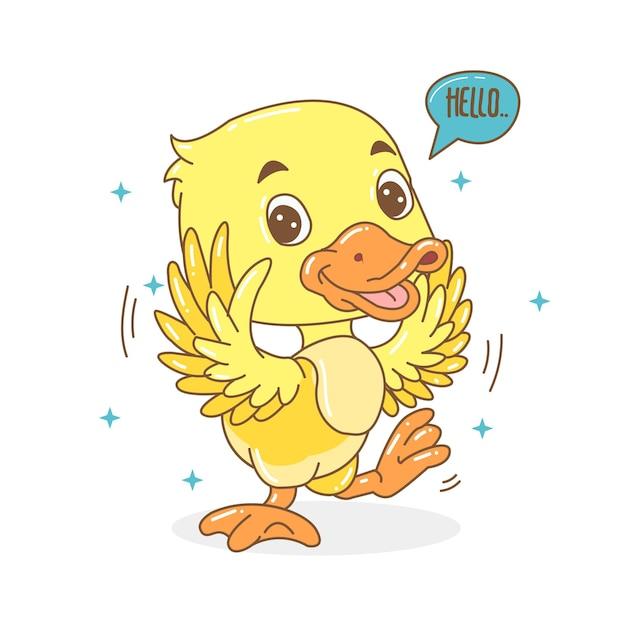 Jolie petite illustration de canard