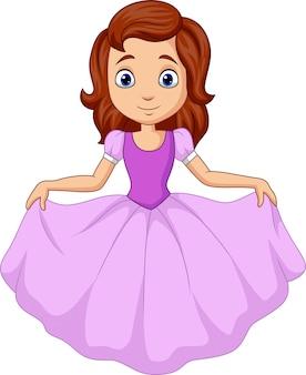 Jolie petite princesse isolée