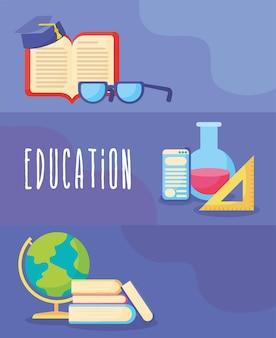 Jolies cartes d'éducation