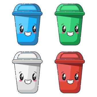 Jolies collections de poubelles