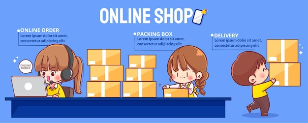Jolies femmes d'affaires vendant en ligne
