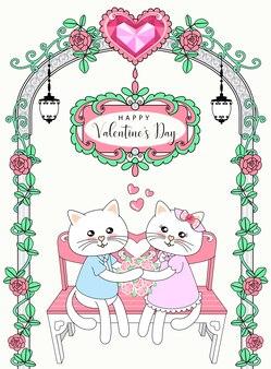 Jolis chats le jour de la saint valentin