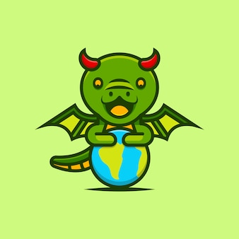 Jolis dragons gardent la terre