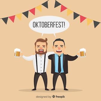 De jolis personnages célébrant l'oktoberfest