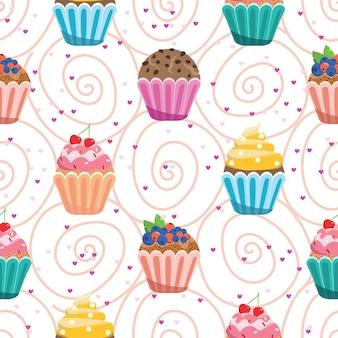 De jolis petits gâteaux. modèles sans couture.