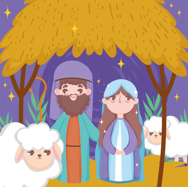 Joseph et marie nativité joyeux noel