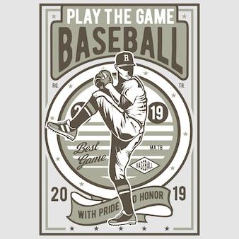 Jouer au jeu de baseball