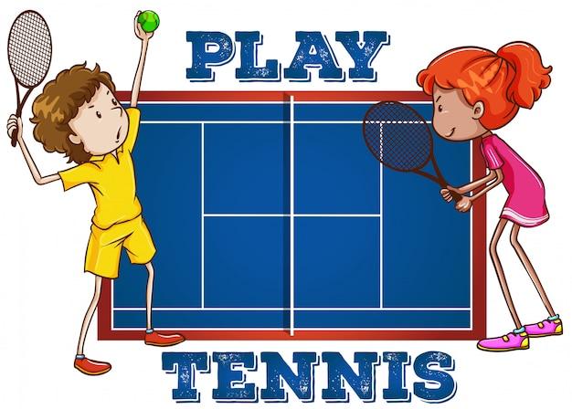 Jouer au tennis avec du texte
