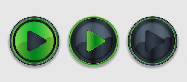 Jouer à la collection de boutons en forme de cercle