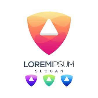 Jouer à la conception de logo de couleur dégradé
