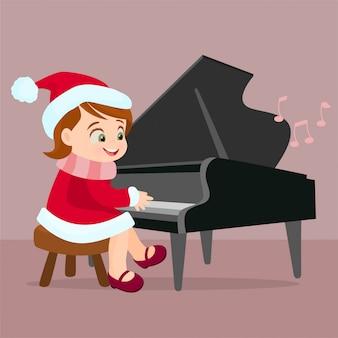 Jouer du piano sur la scène