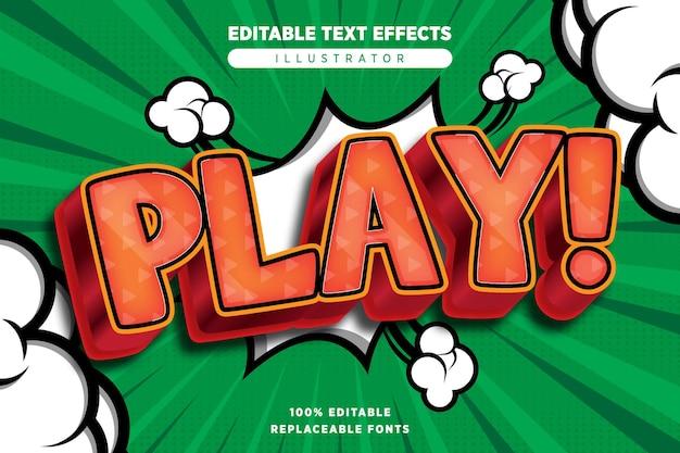 Jouer un effet de texte modifiable dans un style bande dessinée
