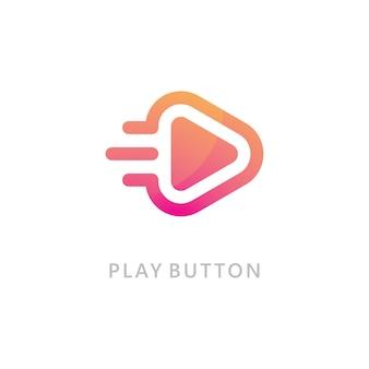 Jouer l'icône du logo vectoriel. modèle de conception d'icône vidéo. lecteur de musique