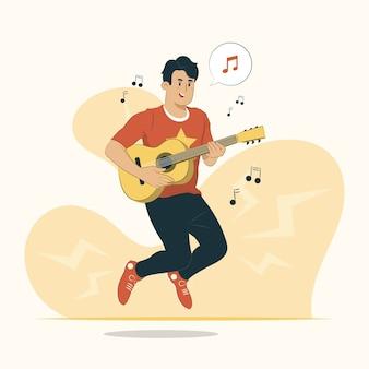 Jouer illustration de concept de musique