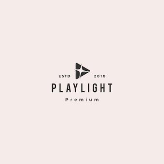 Jouer lumière flare blitz logo lumineux vector icon illustration