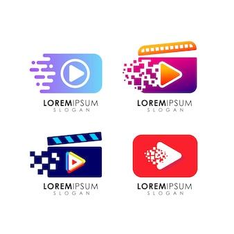 Jouer le modèle de conception de logo. jouer à la conception de symboles d'icône