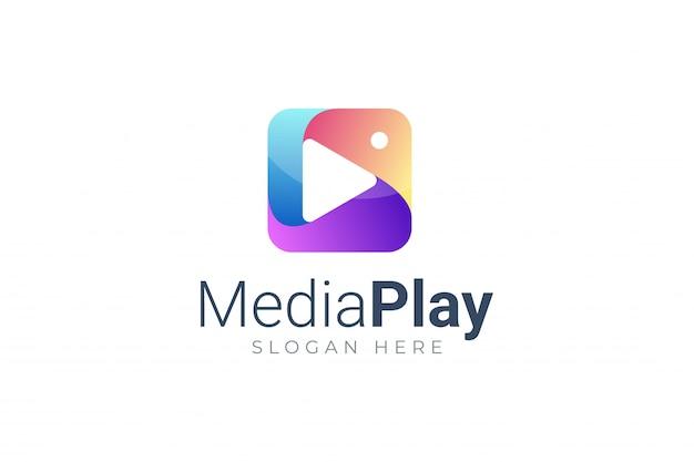 Jouer le symbole de bouton multimédia logo