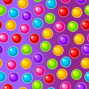 Jouet anti-stress sensoriel coloré pour fidget pop it bulles de silicone colorées