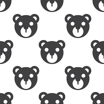 Jouet d'ours, modèle sans couture de vecteur, modifiable peut être utilisé pour les arrière-plans de pages web, les remplissages de motifs