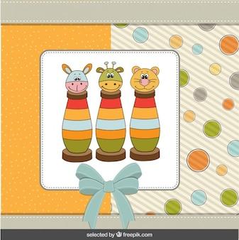 Jouets de bébé mignon carte de douche