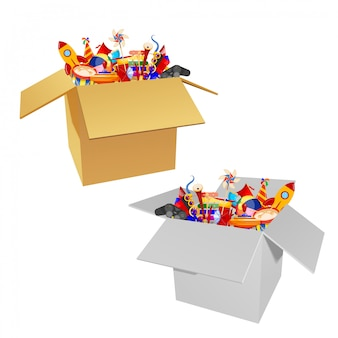 Jouets pour enfants en boîte