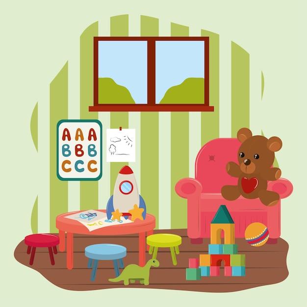 Jouets pour enfants de salle de jeux