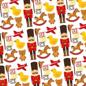 Jouets pour enfants soldat blocs de blocs ours décoration de fond de canard