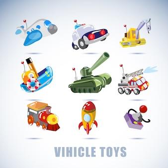 Jouets de véhicules.