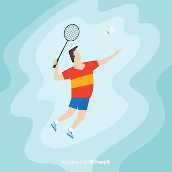 Joueur de badminton