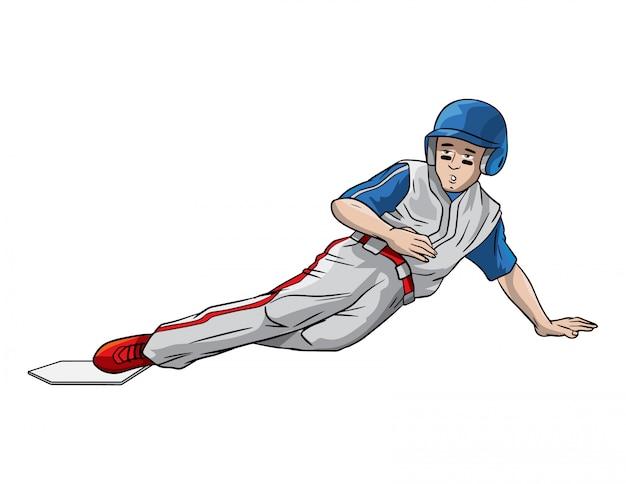 Joueur de baseball sur la base