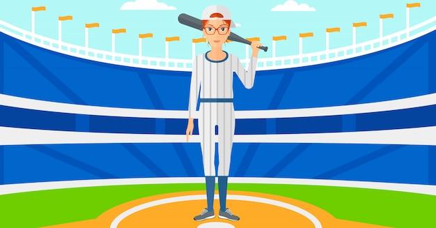 Joueur de baseball avec batte