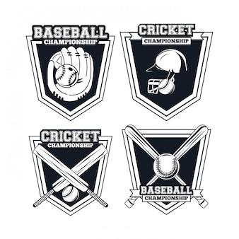 Joueur de baseball et de cricket