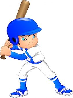 Joueur de baseball garçon mignon