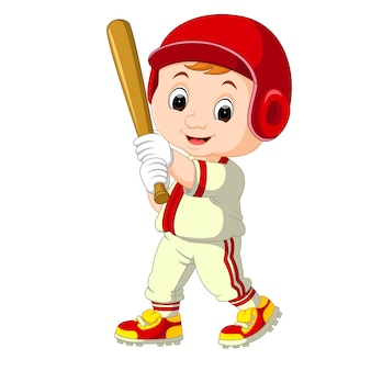 Joueur de baseball kid cartoon