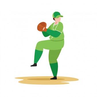 Joueur de baseball lancer la balle