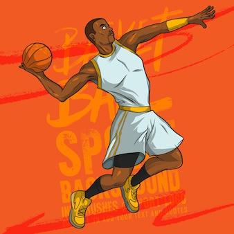 Joueur de basket-ball vecteur de dessin animé