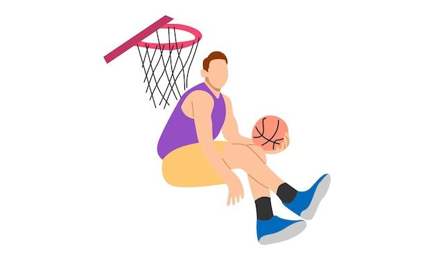 Joueur de basket plongeant
