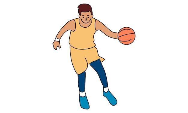 Joueur de basketball. concept sportif