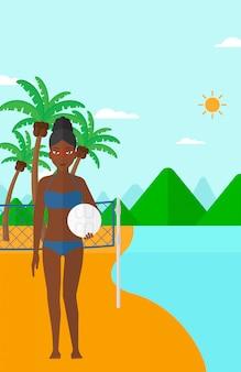 Joueur de beach volley