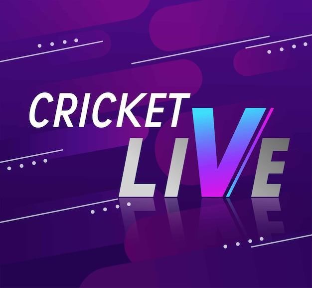 Joueur de cricket création d'affiches ou de bannières avec arrière-plan pour le championnat de cricket
